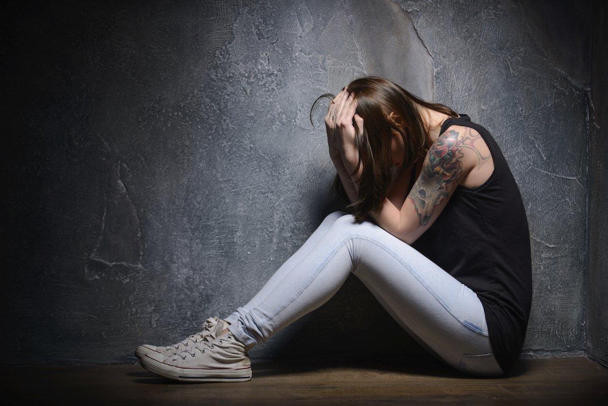 Симптомы наркомании - подавленность, депрессия