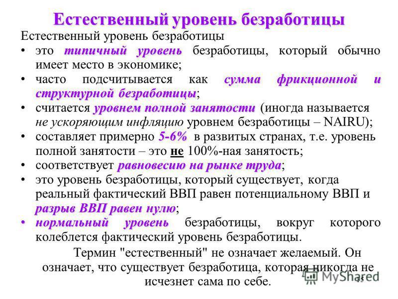 Естественная безработица. понятие и виды :: businessman.ru